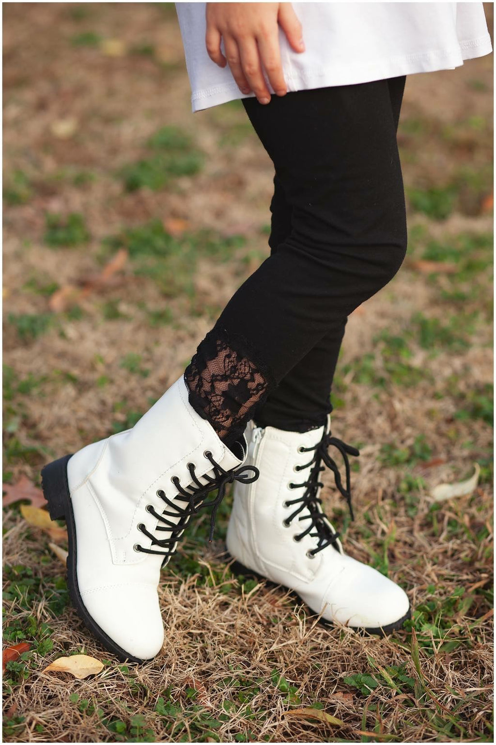 Lace Insert Leggings