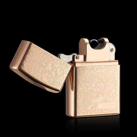 Metal USB Electric Windproof Arch Lighter