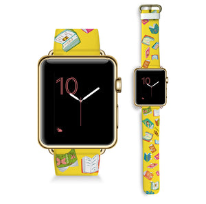 Books in Yellow - Watch Band
