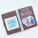 """The Handbook for the Recently Deceased"" from Beetlejuice - Kindle Paperwhite Case"