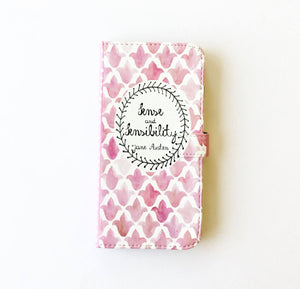 """Sense and Sensibility"" by Jane Austen - Phone Case"
