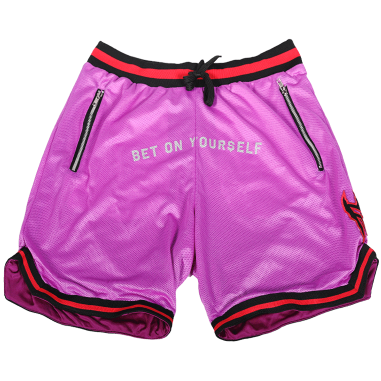"Purple ""Bet On Your$elf"" Shorts"
