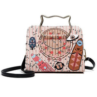 FLYING BIRDS Leather Pouch Design Shoulder Bags