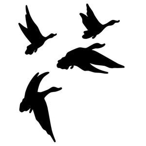 Four Flying Ducks Car Decal