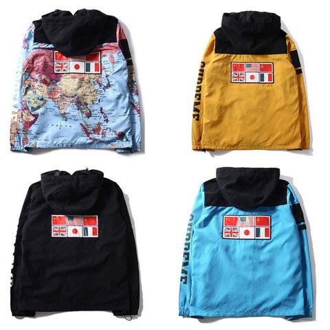 Tops hype club supreme worldwide map hooded jacket gumiabroncs Gallery