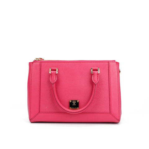 MCM Medium Leather Pink Crossbody Bag