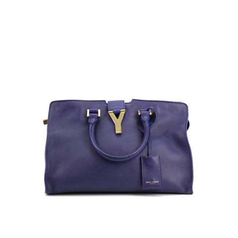 Saint Laurent Y Ligne Blue Satchel