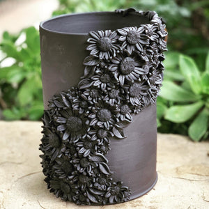 Cascading Sunflower Vase