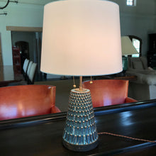Tapered Carved Table Lamp