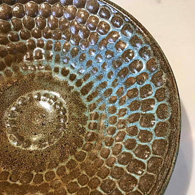 Dimpled Stoneware Bowl