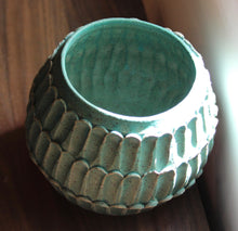 Turquoise Carved Planter