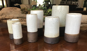 Black Linen Dipped Cylinder Collection