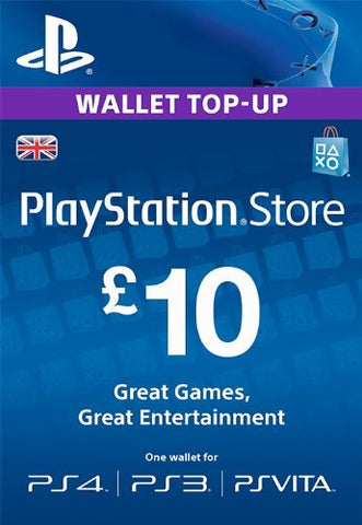 PlayStation PSN Card £10 GBP Wallet Top Up | PSN Download Code - UK account