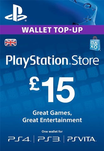PlayStation PSN Card £15 GBP Wallet Top Up | PSN Download Code - UK account