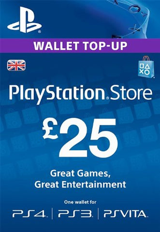 PlayStation PSN Card £25 GBP Wallet Top Up | PSN Download Code - UK account