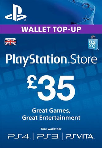 PlayStation PSN Card £35 GBP Wallet Top Up | PSN Download Code - UK account