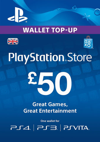 PlayStation PSN Card £50 GBP Wallet Top Up | PSN Download Code - UK account