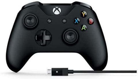 Microsoft Xbox Black Wireless Controller, with Cable for Windows PC
