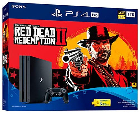 PS4 PLAYSTATION 4 PRO RED DEAD REDEMPTION 2 BUNDLE PACK