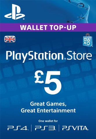 PlayStation PSN Card £5 GBP Wallet Top Up | PSN Download Code - UK account