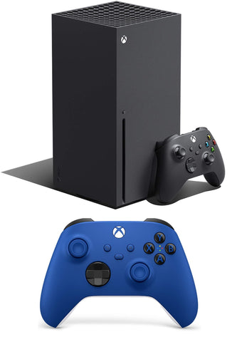Xbox Series X + Xbox Wireless Controller – Shock Blue Bundle