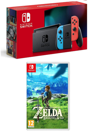Nintendo Switch (Neon Red/Neon blue) + The Legend of Zelda: Breath of the Wild