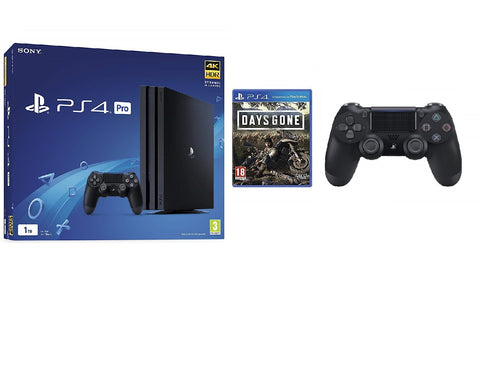 SONY PLAYSTATION 4 PRO 1TB WITH DAYS GONE + EXTRA BLACK DUALSHOCK 4 CONTROLLER