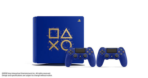 "Sony PlayStation 4 500GB Console - Limited Edition Blue ""Days of Play"""
