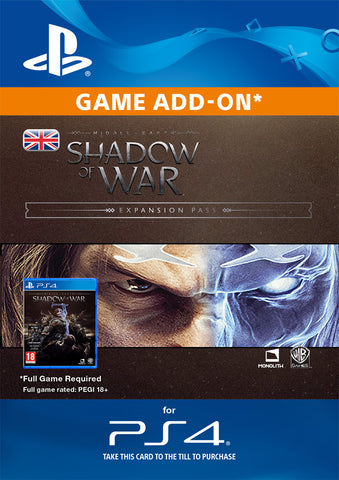 Middle-Earth: Shadow Of War Expansion Pass for PS4 DLC
