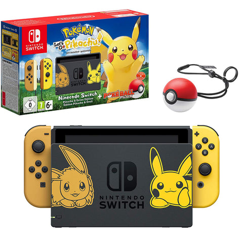 Nintendo Switch & Pokemon Let's Go Pikachu! Bundle