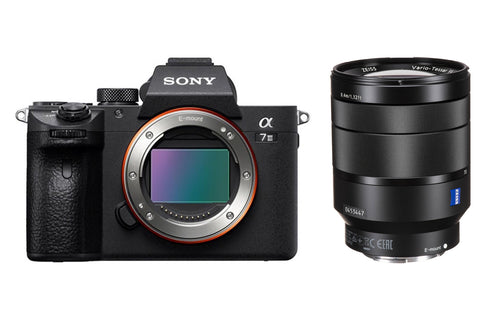 Sony Alpha 7 III ILCE7M3B 24.2 MP Digital Camera Kit - 4K - Mirrorless - Black - Body + Sony 24-70mm f/4 Vario-Tessar T* FE OSS