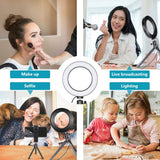 Ring light Dimmable LED 10-Inch Ring Light with Tripod Stand - for Selfies Makeup YouTube TikTok Vlog