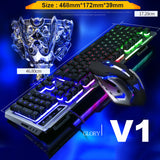 Backlit illuminated Multimedia USB Gaming Keyboard and Mouse Bundle 3200DPI Optical
