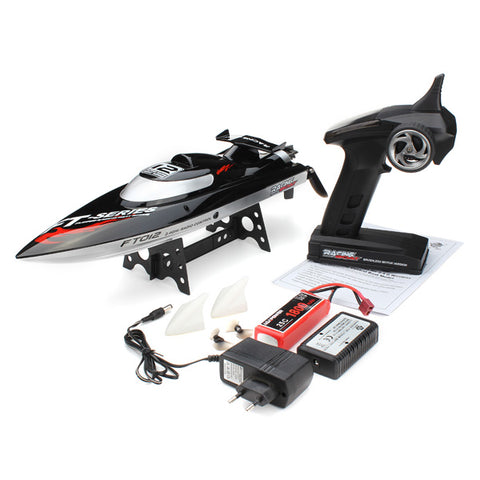 RC Speedboat 45KM/H, FT012 Upgraded 2.4G Brushless RC Boat remote control