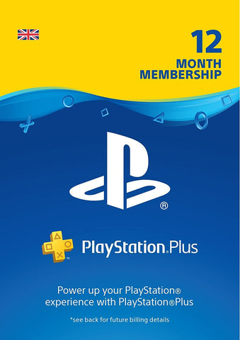 PlayStation Plus: 12 Month Membership | PS4/PS3 | PSN Download Code - UK account