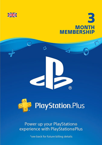 PlayStation Plus: 3 Month Membership | PS4/PS3 | PSN Download Code - UK account