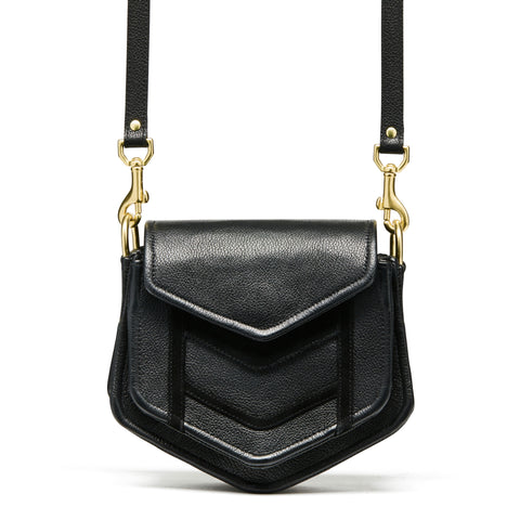Chevron Black Crossbody Bag