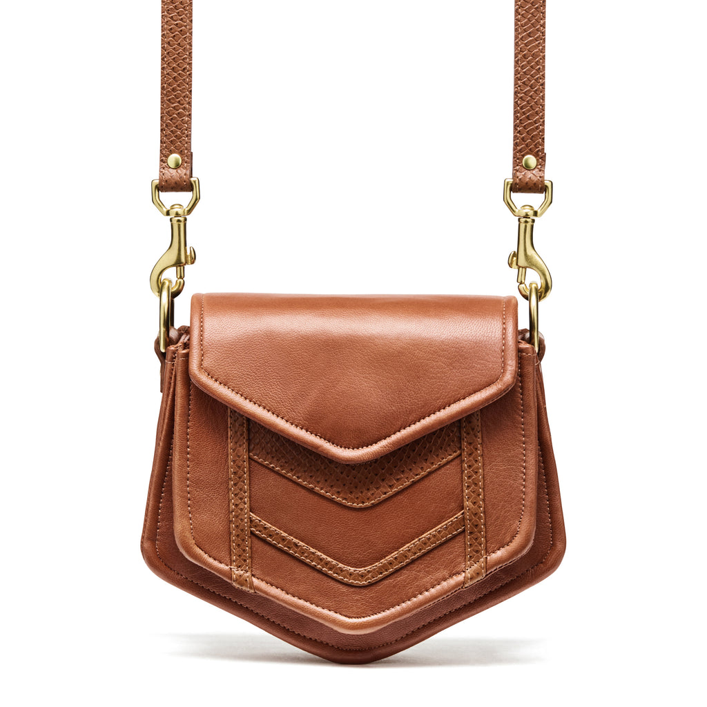 Chevron Burnt Sienna Crossbody Bag