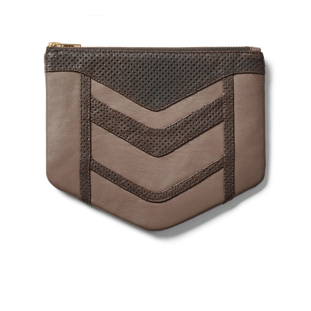 Chevron Raw Umber Phone Wallet