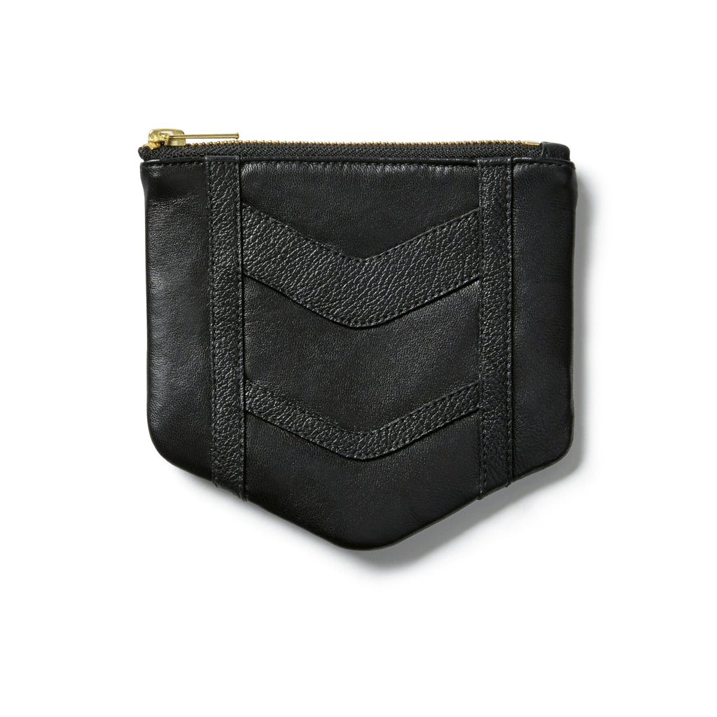 Chevron Black Small Pouch