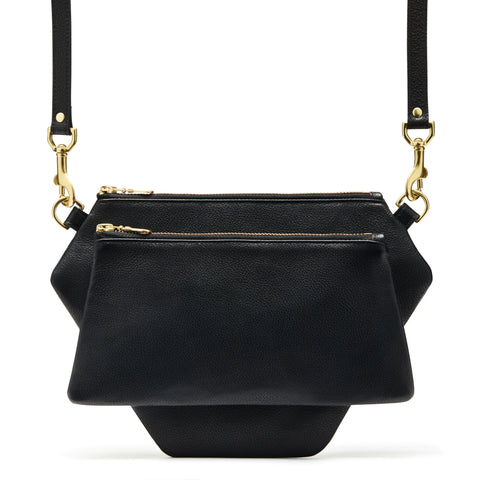 POLYGONIC Black Cross-body Bag