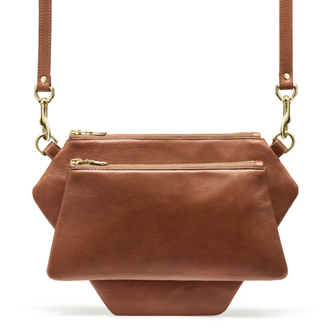 POLYGONIC Burnt Sienna Cross-body Bag