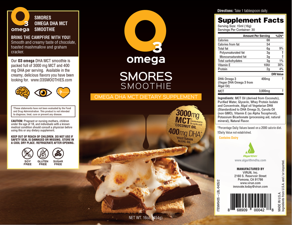Omega 3 S'mores Smoothie