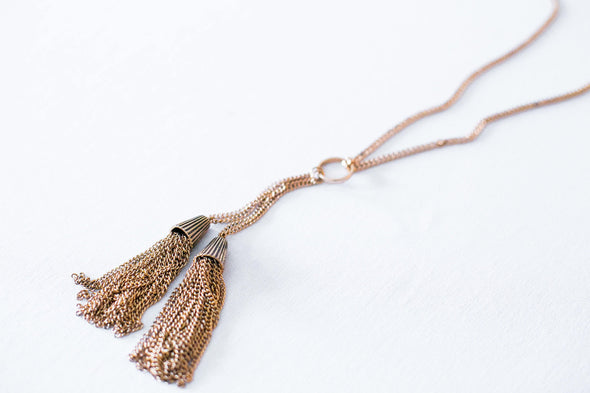 Laney Statement Tassel Necklace
