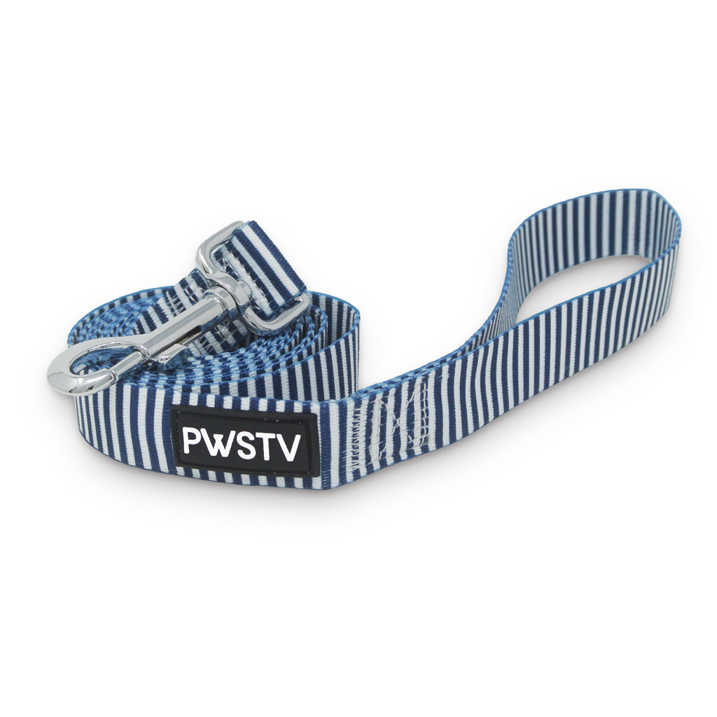 Navy Stripes Dog Leash