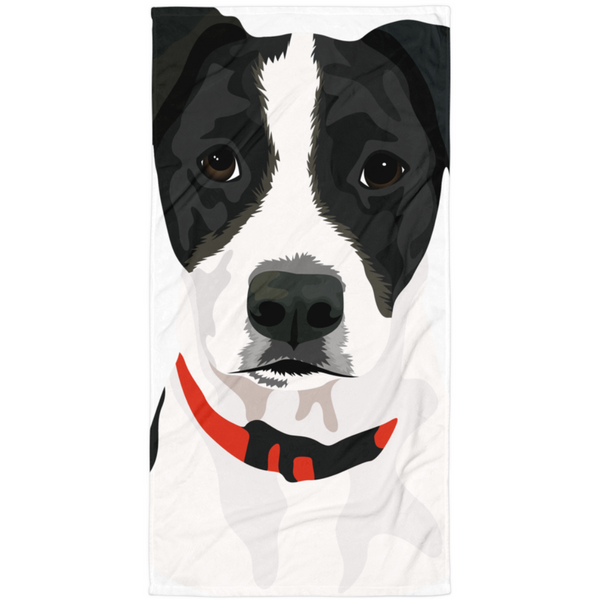 Custom Dog Towel- Magnified Print