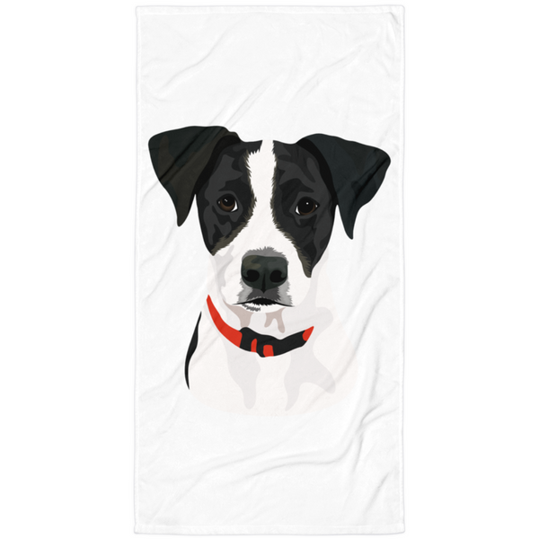 Custom Dog Towel- Spotlight Print