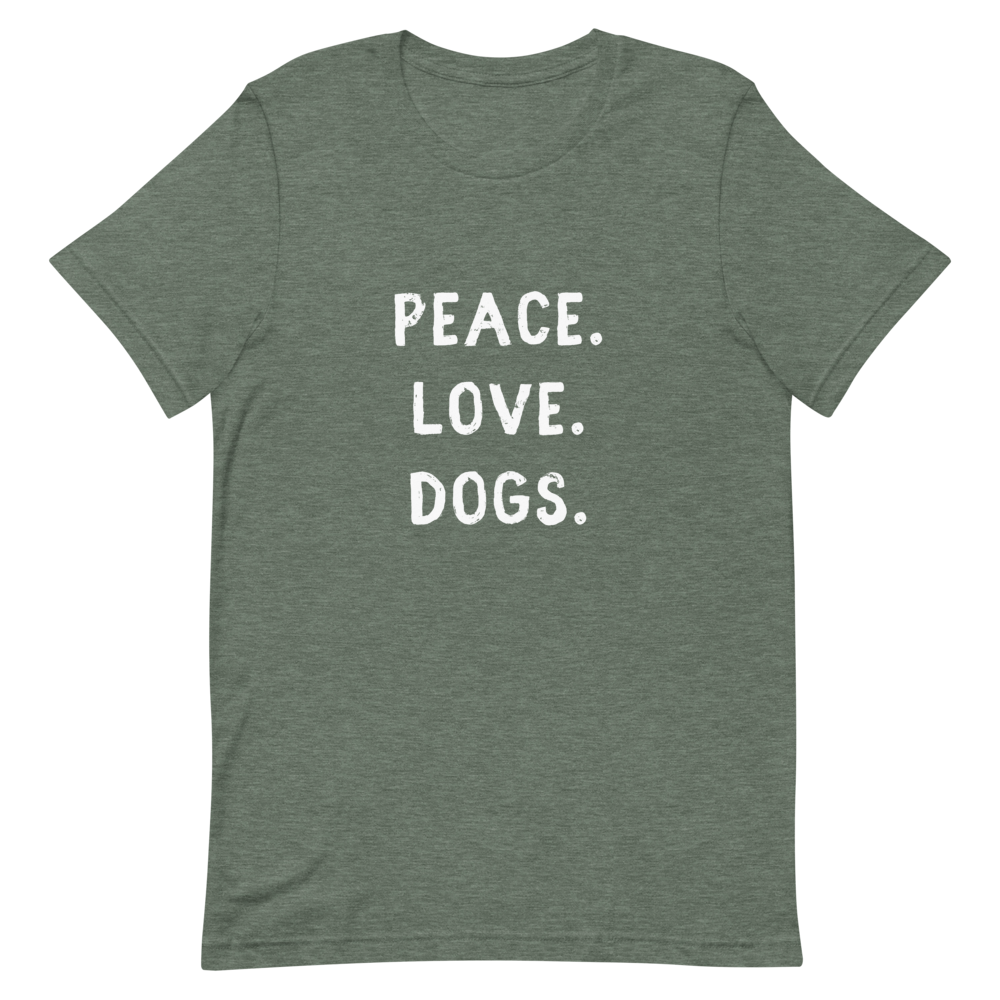 Men's Peace. Love. Dogs T-Shirt