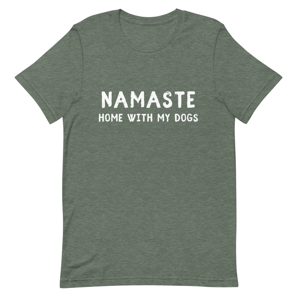 Men's Namaste Home With My Dogs T-Shirt