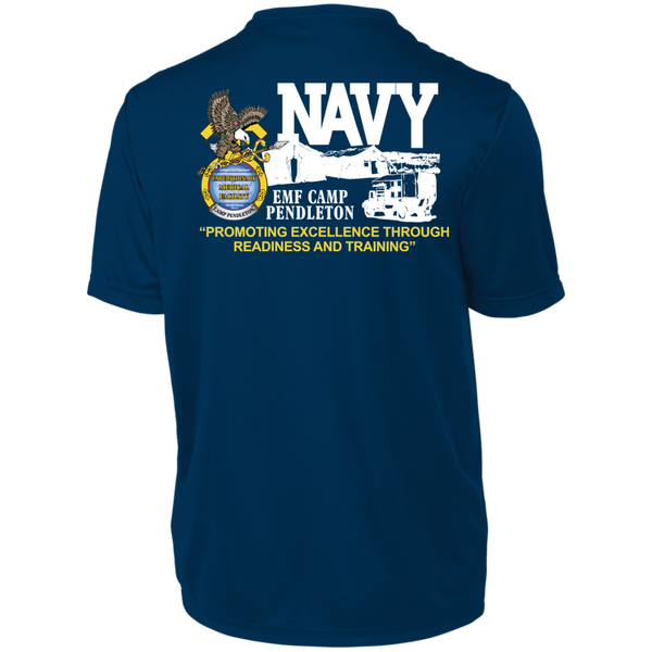 001B11 AUTHORIZED WITH NWU TYPE 1 UNIFORMS- Unisex Wicking T-Shirt - FRONT AND BACK PRINTS
